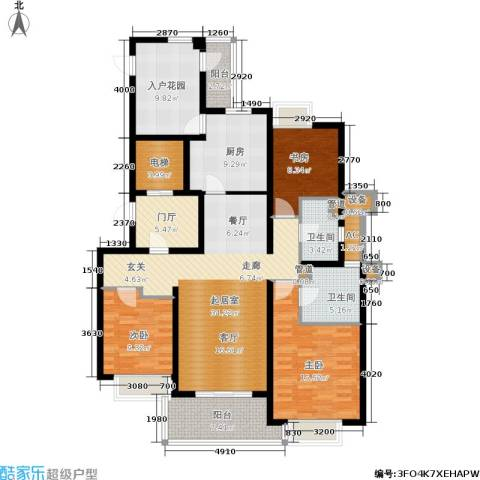 金色家园3室0厅2卫1厨140.00㎡户型图
