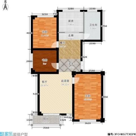 阳光观海苑3室0厅1卫1厨104.00㎡户型图