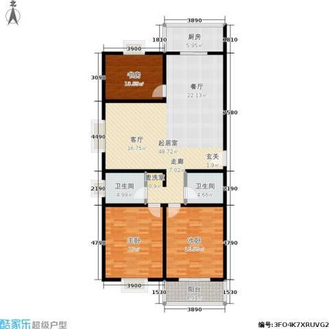 滨河27栋3室0厅2卫1厨141.00㎡户型图