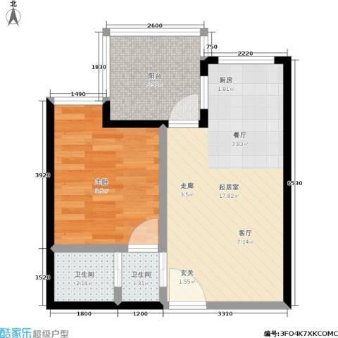 苹果城1室0厅2卫0厨92.00㎡户型图
