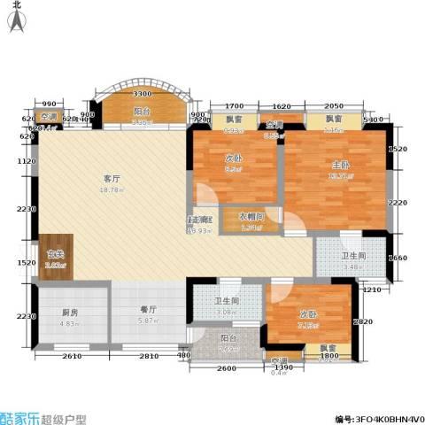 天工太阳岛3室0厅2卫1厨104.00㎡户型图