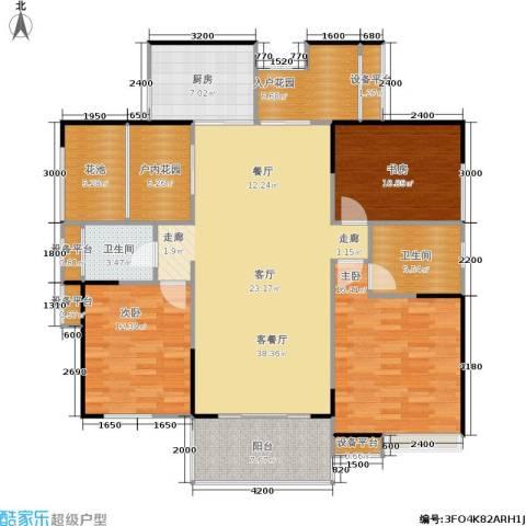 长房南屏锦源3室1厅2卫1厨130.00㎡户型图