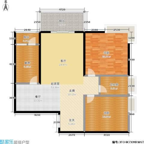 苹果城2室0厅1卫1厨128.00㎡户型图