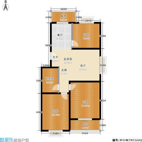滨河27栋3室0厅1卫1厨110.00㎡户型图