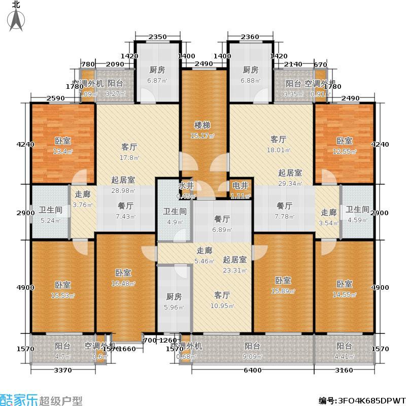西山美筑89.62㎡3号楼A/B户型 两室两厅一卫户型2室2厅1卫