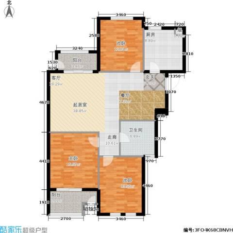 君悦国际花园3室0厅1卫1厨118.00㎡户型图