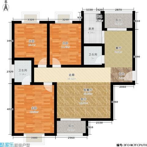 橄榄湾3室1厅2卫1厨111.00㎡户型图