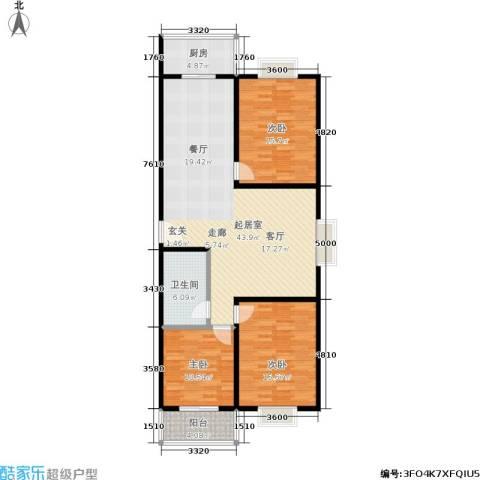 滨河27栋3室0厅1卫1厨123.00㎡户型图