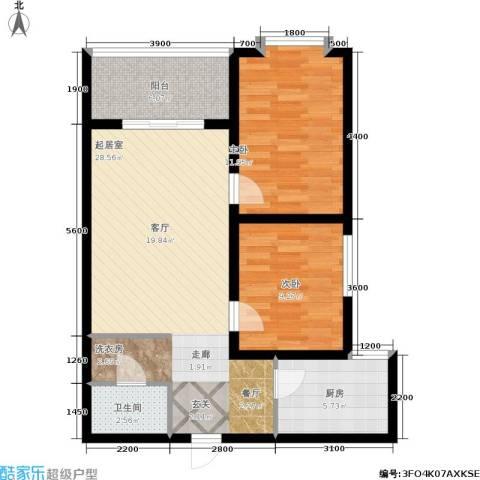 唐宫尚品2室0厅1卫1厨86.00㎡户型图