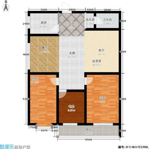 唐宫尚品3室0厅1卫1厨142.00㎡户型图