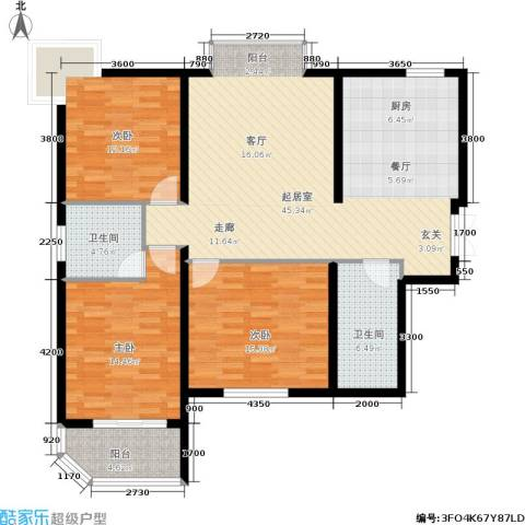 家天下3室0厅2卫0厨134.00㎡户型图