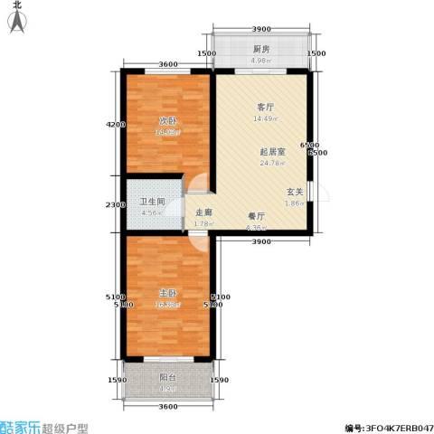 怡园教师花园2室0厅1卫1厨88.00㎡户型图