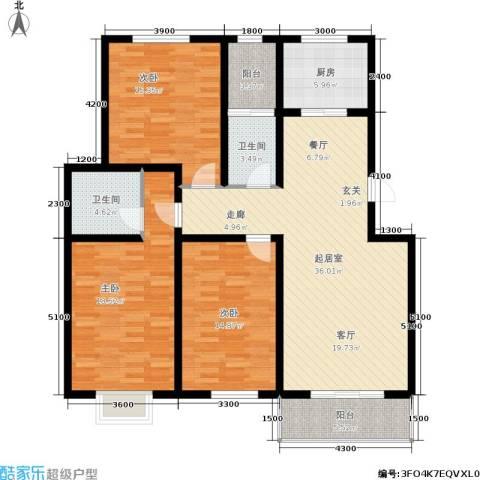 怡园教师花园3室0厅2卫1厨137.00㎡户型图