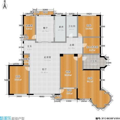 山海一家二期4室1厅2卫1厨313.00㎡户型图