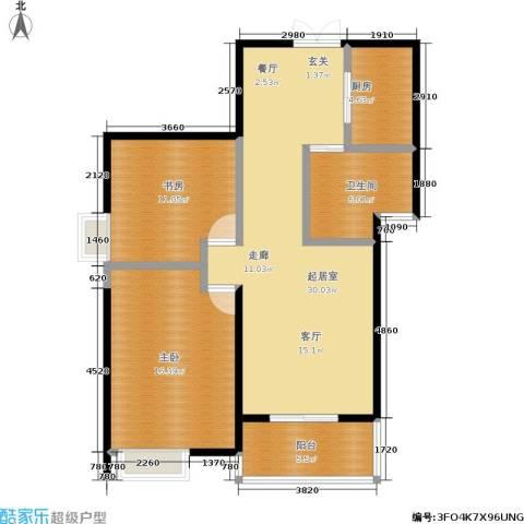 苹果城2室0厅1卫1厨83.00㎡户型图