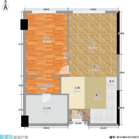 珠江时代广场1室1厅1卫0厨84.00㎡户型图