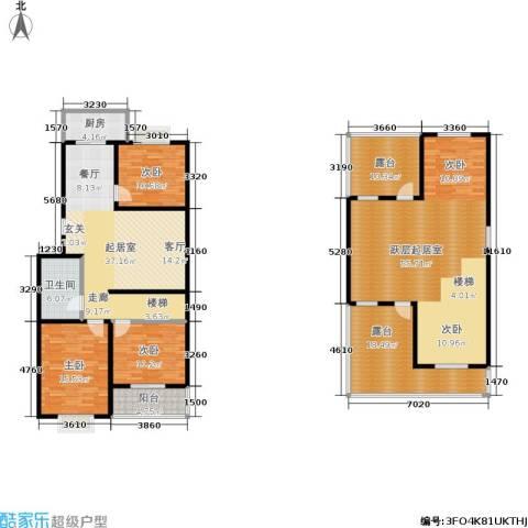 滨河27栋3室0厅1卫1厨173.98㎡户型图