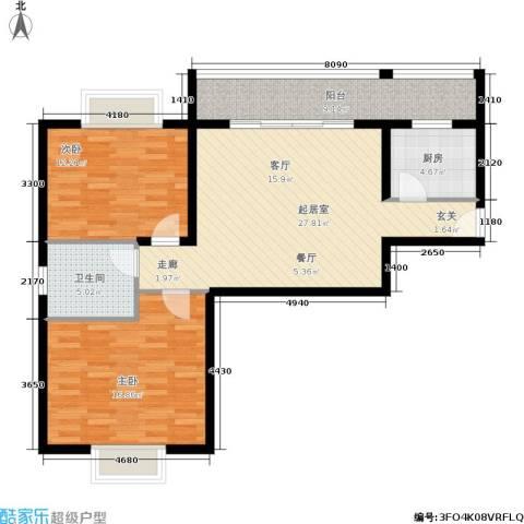 曲江经典2室0厅1卫1厨86.00㎡户型图