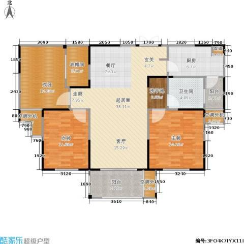济源建业壹号城邦3室0厅1卫1厨122.00㎡户型图