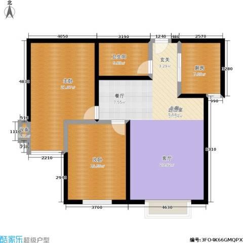 滨河绿洲2室0厅1卫1厨99.00㎡户型图