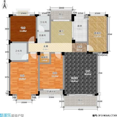 洪都花园3室0厅2卫1厨177.00㎡户型图