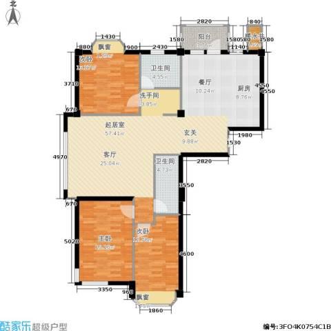 深蓝半英里3室0厅2卫0厨120.00㎡户型图