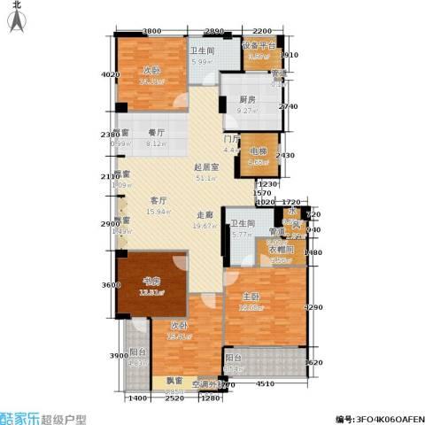 荣安琴湾4室0厅2卫1厨183.00㎡户型图