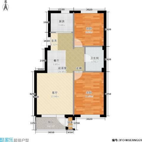 嘉恒国际2室0厅1卫1厨81.00㎡户型图