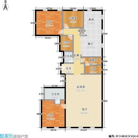 万国城moma3室0厅3卫0厨231.00㎡户型图