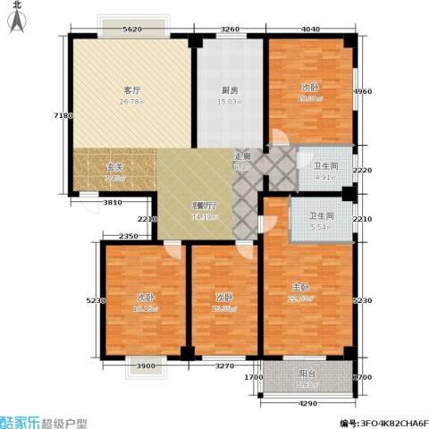 富世康园4室1厅2卫0厨180.00㎡户型图