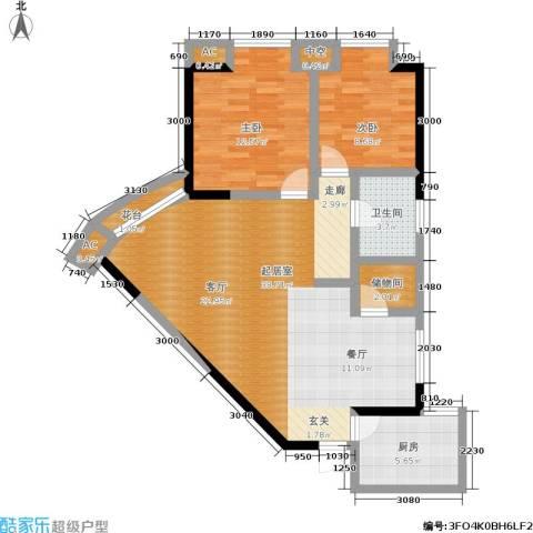 港城静园2室0厅1卫1厨73.65㎡户型图