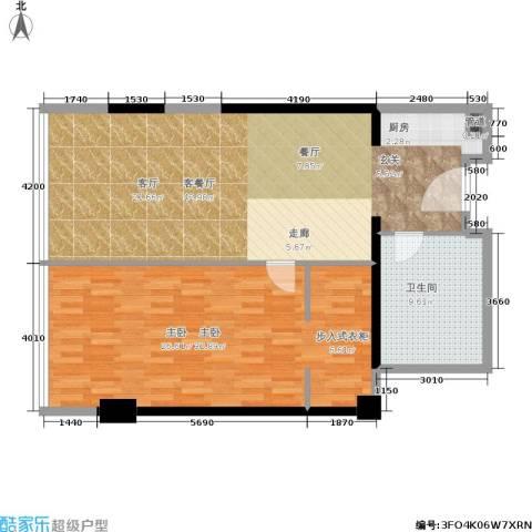 珠江时代广场1室1厅1卫0厨95.00㎡户型图