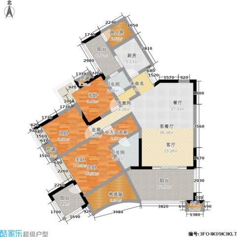 丽水菁苑栖景湾3室1厅2卫1厨130.00㎡户型图