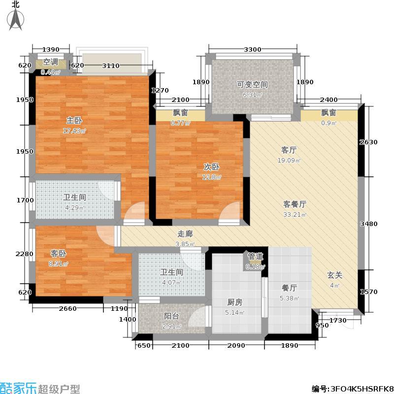 华宇金沙时代103.51㎡华宇金沙时代户型图12号楼J户型三室两厅两卫套内面积约(136/142张)户型10室