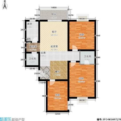 唐宫尚品3室0厅2卫1厨123.00㎡户型图