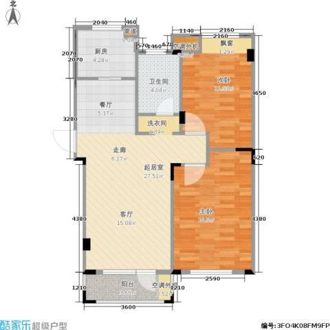 斯坦福院落2室0厅1卫1厨72.56㎡户型图