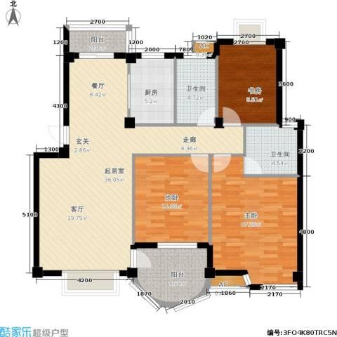 四季美景3室0厅2卫1厨110.00㎡户型图