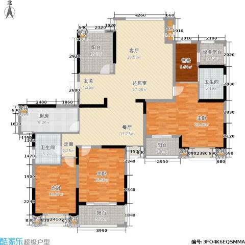 银亿海尚广场4室0厅2卫1厨182.60㎡户型图