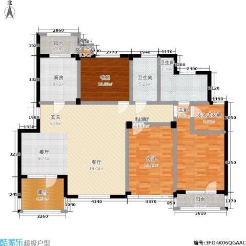 壹品漫谷3室1厅2卫1厨178.00㎡户型图