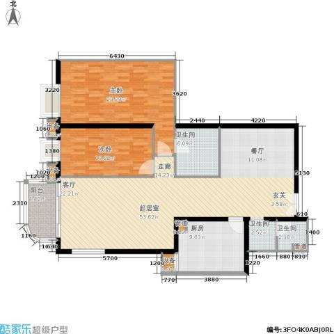 广信嘉园2室0厅2卫1厨146.00㎡户型图