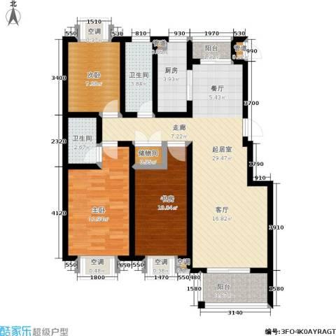 腾骐冠宸3室0厅2卫1厨117.00㎡户型图