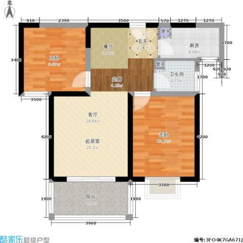 添锦明居2室0厅1卫1厨89.00㎡户型图