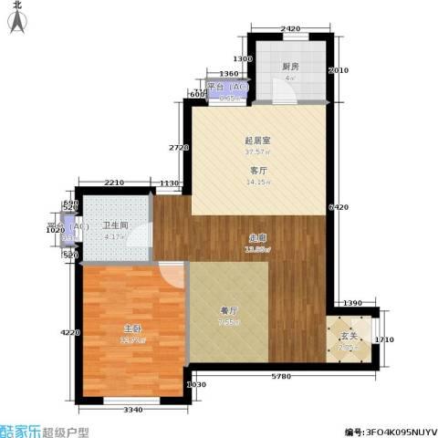 水晶公寓1室0厅1卫1厨82.00㎡户型图
