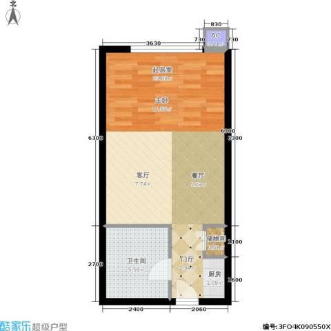 水晶公寓1卫0厨51.00㎡户型图