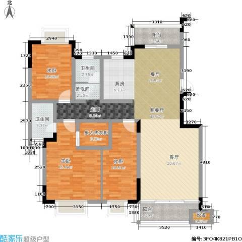 湘翰御舍3室1厅2卫0厨126.00㎡户型图