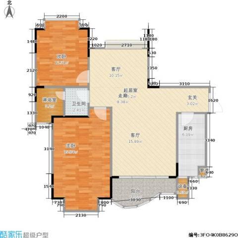 枫丹树语城2室0厅1卫1厨115.00㎡户型图