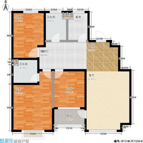 七星九龙湾3室1厅2卫1厨138.00㎡户型图