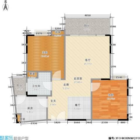 枫丹树语城2室0厅1卫1厨91.00㎡户型图