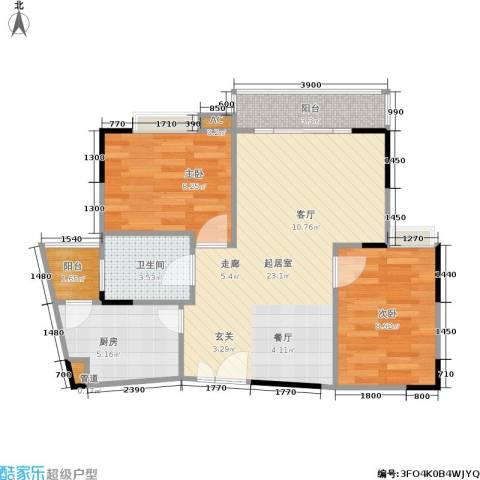 枫丹树语城2室0厅1卫1厨74.00㎡户型图