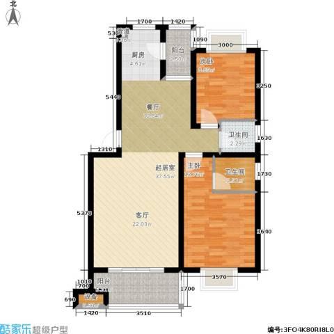 湘翰御舍2室0厅2卫0厨89.00㎡户型图